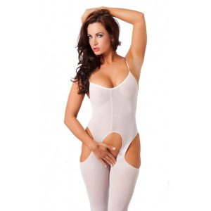 Open Catsuit – Wit