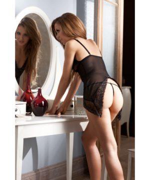 Transparant lingerie jurkje en string