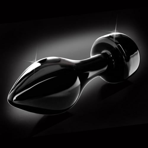 Glazen buttplug Icicles No 44 zwart