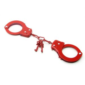 Metal Handcuffs Red