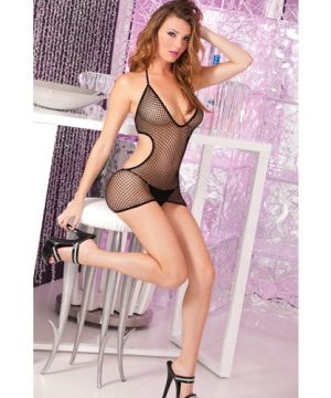 Diamond doll fishnet dress