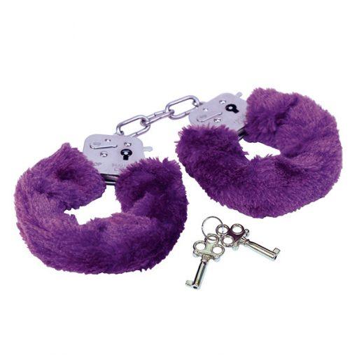 Rimba - Politie Handboeien met paars bont