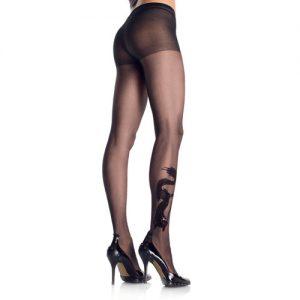 Drakentattoo Panty - Zwart