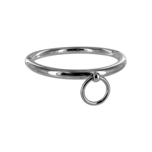 Stalen halsband met ring