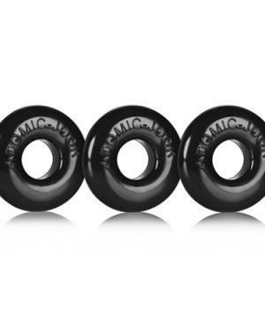 Donut Ringer Zwarte Cockring Set - Smal
