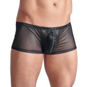 Mannenboxer Met Rits - Zwart