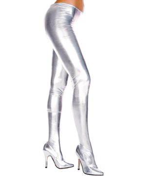 Wetlook Metallic Panty - Zilver