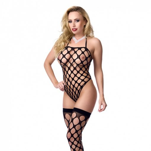 Big Hole Body Stocking met Kousen