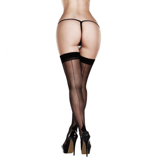 Baci - Sheer Cuban Heel Thigh Highs