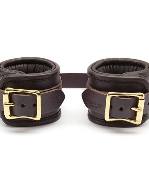 Coco de Mer - Leather Wrist Cuffs Brown