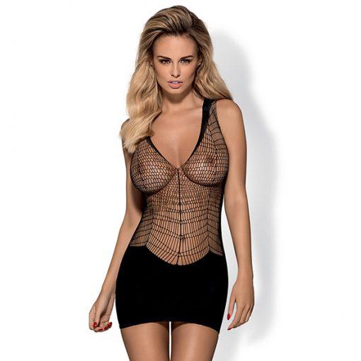 Obsessive - D603 Dress Zwart XL/XXL