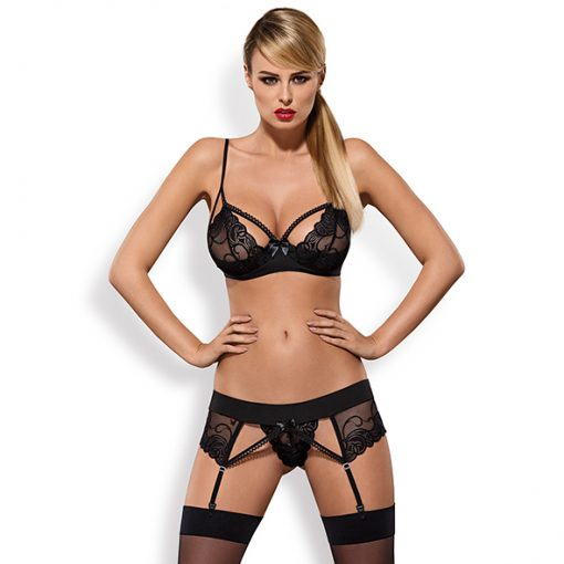 Obsessive - Wonderia Set 3 pcs Zwart