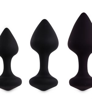 FeelzToys - Bibi Butt Plug Set 3 pcs Black