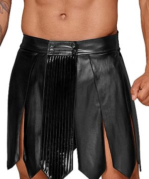 Leather gladiator skirt - Black