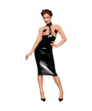 PVC choker dress