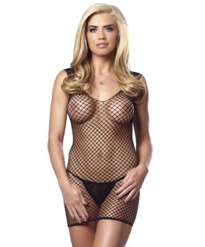 Rimba - Fishnet Dress with G-String