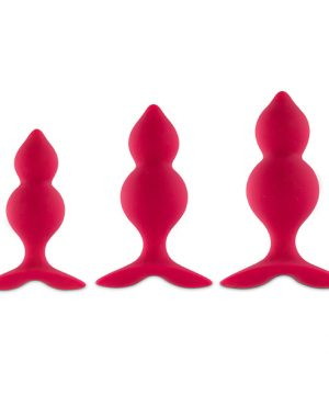 FeelzToys - Bibi Twin Butt Plug Set 3 st. Roze