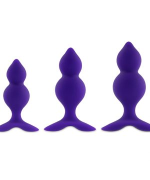 FeelzToys - Bibi Twin Butt Plug Set 3 st. Paars