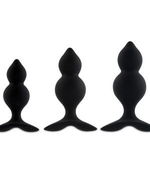 FeelzToys - Bibi Twin Butt Plug Set 3 st. Zwart