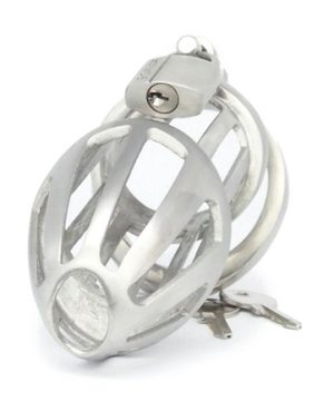 BON4M Stainless Steel Chastity Cage - Large