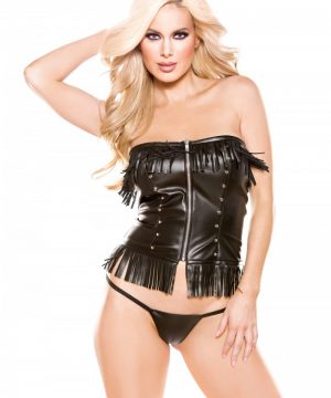 Faux Leather Corset Top