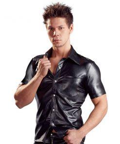 Imitation Leather Men´s Shirt